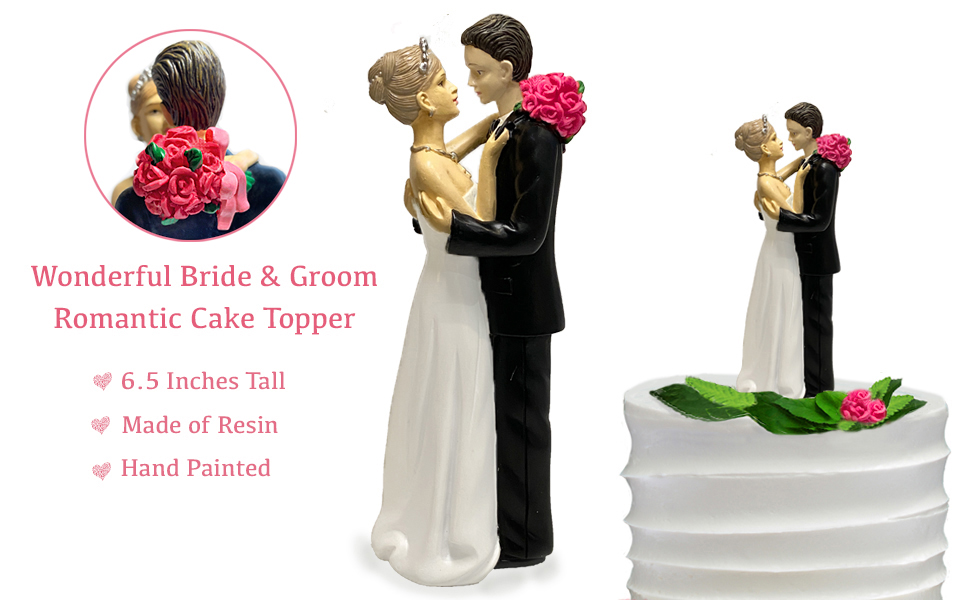 Figurine Cake Topper Look of Love Wonderful Bride and Groom Wedding