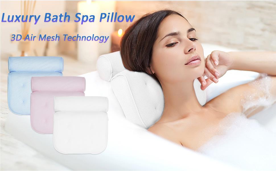 3d air mesh technology bath pillow for tub