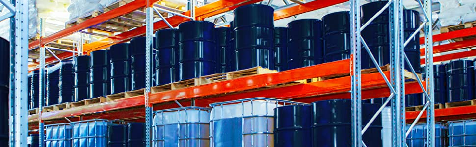 Chemical Drums in Warehouse