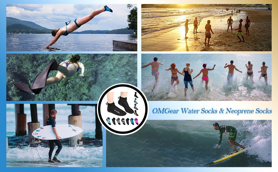 LayaTone Calcetines Nataci/ón Neopreno 2.5 Hombre Adulto Mujer Antideslizantes Calcetines Buceo Snorkel Kayak Surf Secado R/ápido