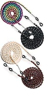 beaded chain for women glasses strings necklace to hold glasses eye glasses  eyeglass lanyards