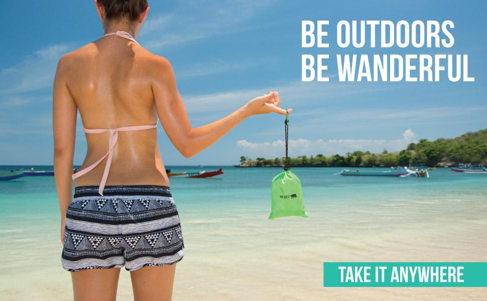 BEARZ Outdoor Beach Blanket (green)