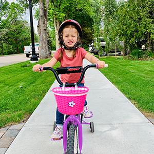 Lenker Fahrrad Lenker Fahrradkorb vorne für Kinder mit Aluminiumklingel