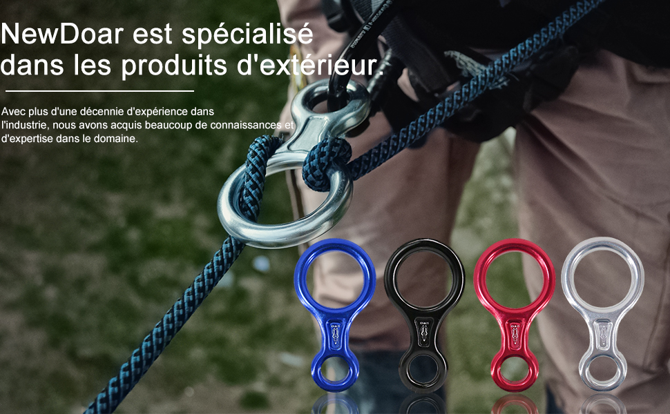 NewDoar Peak Rescue Terminal 8 Descender, Belaying and Rappel Equipos
