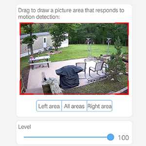 outdoor camera motion detection setting
