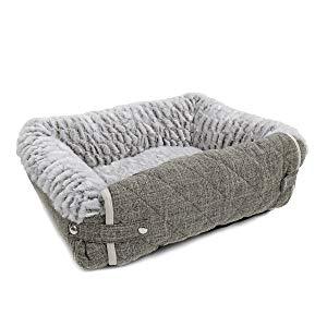 PAWZ Road Alfombrilla Plegable y Lavable de 3 en 1 para sofá de Perro con Almohadilla de Almohada, sofá Multifuncional para Perros y Gatos, Color Gris