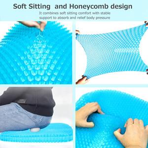 almohadillas transpirables asiento de huevo silla de ruedas gruesa con funda antideslizante Coj/ín de gel para asiento de huevo de nueva versi/ón