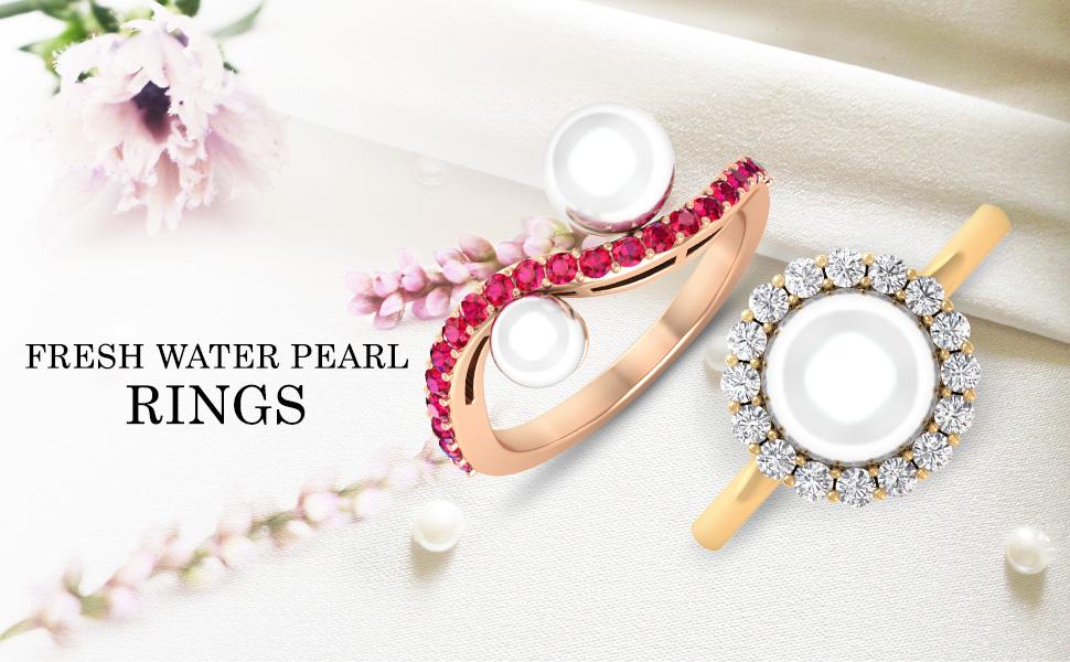 banner Fresh Water Pearl Rings