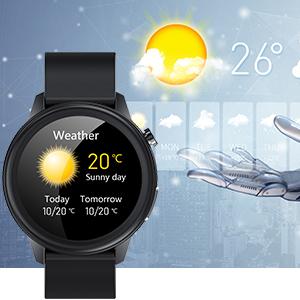Smartwatch für Herren mit Wetteranzeige