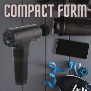 Portable deep tissue percussion massager gun