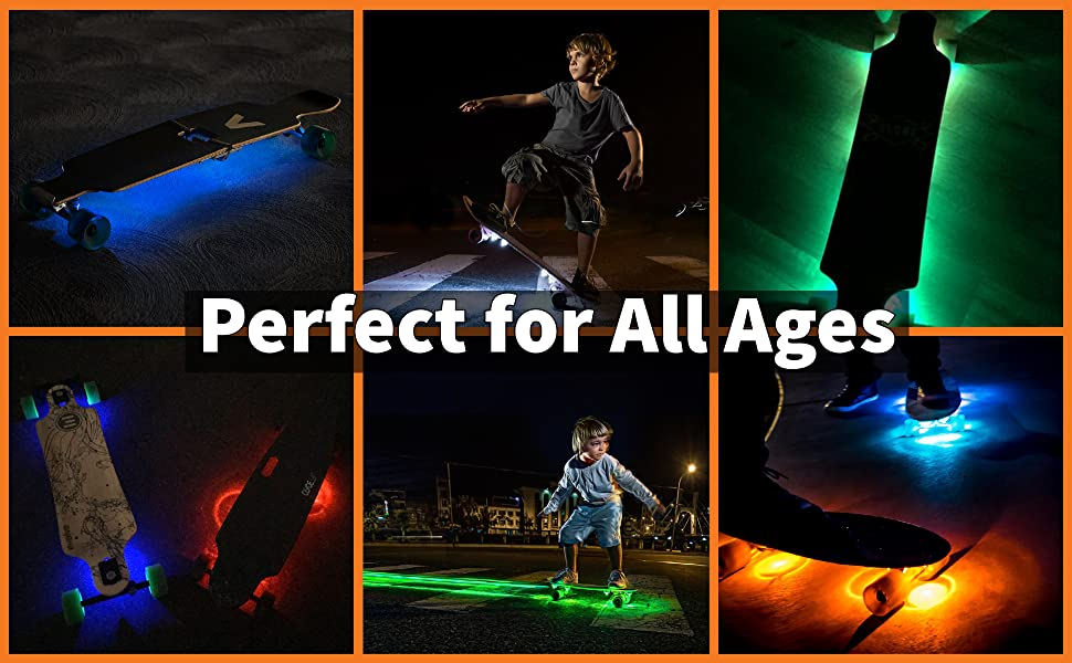 skateboard lights gifts for boys. perfect for all ages.