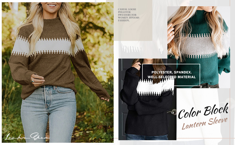 Womens Oversized Fall Chunky Knitted Jumper Tops