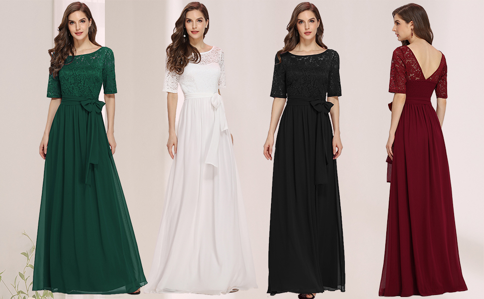 formal evening gowns wedding party dress autumn and winter chiffon party gowns for wedding