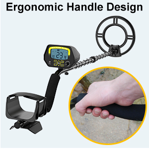 SAKOBS Metal Detector for Adults - High Accuracy Metal Detector with Discrimination Mode & Distinctive Audio Prompt and LCD Display Waterproof Search ...
