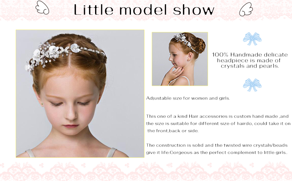 Flower Bridal HairPiece for Women and Girls