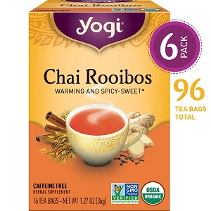 yogi chai rooibos tea warming and spicy sweet