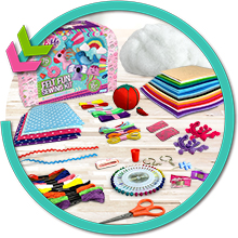 Felt Creative Arts and Craft Sewing Supplies For Girls