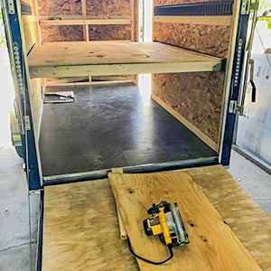 Wood Beam sockets giving more room in your trailer