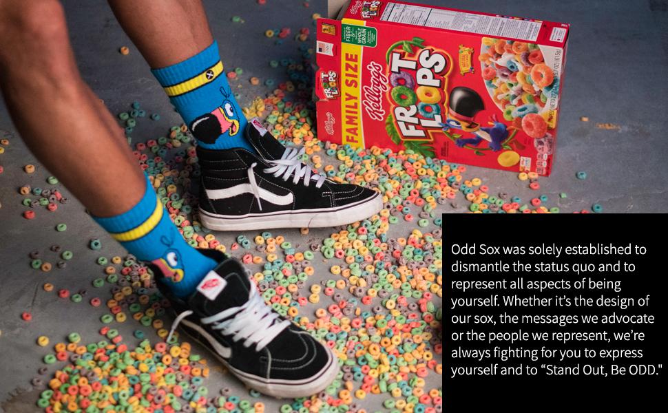 fruit loops, socks, fun socks, odd sox,