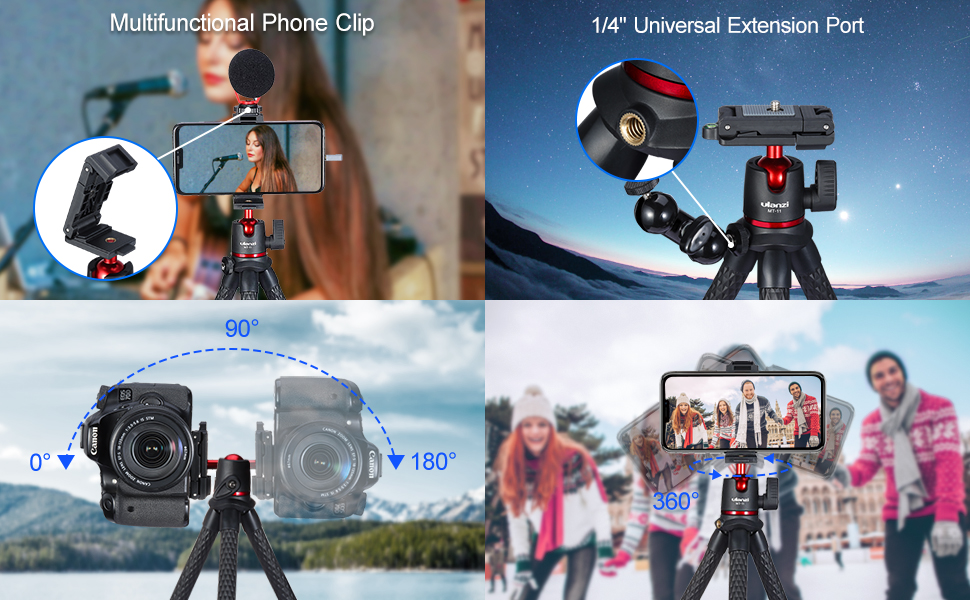 flexible tripod iphone camera phone