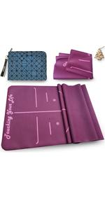 Yogamat dun roze yogamat natuurlijk rubber yogamat breed tas yogamat yoga mat met patroon