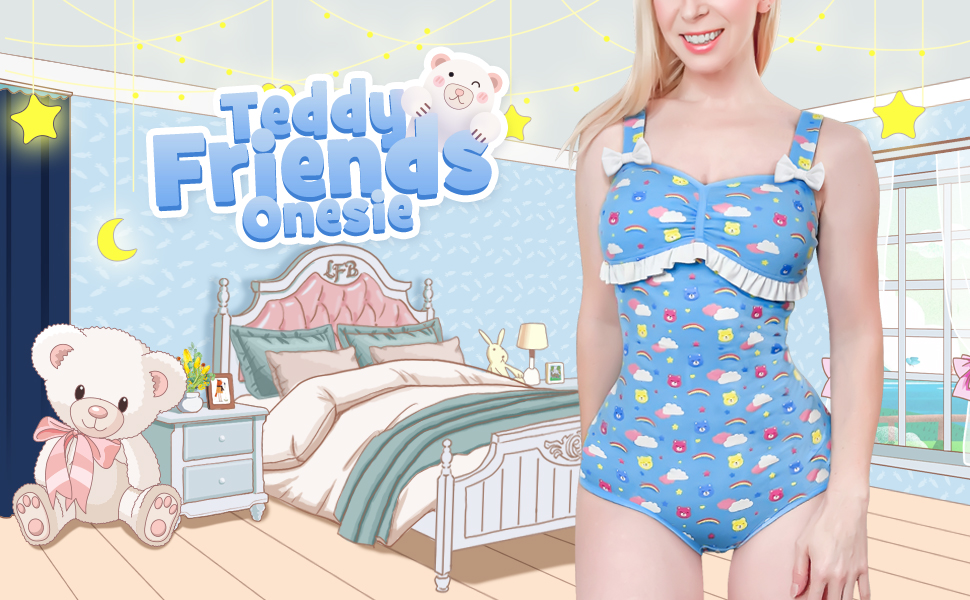Ours en Peluche Onesie LittleForBig Coton Body Onesie Pyjamas Bodysuit