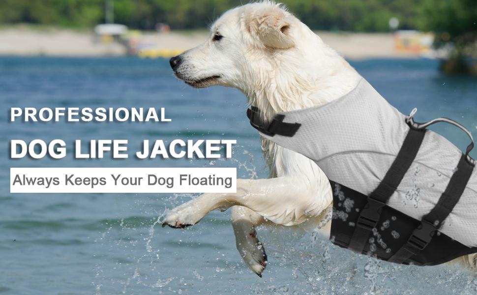 N Superior Perro De Mascota Flotabilidad Chalecos Salvavidas A Chaleco Salvavidas Perro para La Mediana Grande Perros Peque/ños Traje De Ba/ño De Seguridad del Conservante con Reflexivo Rayas