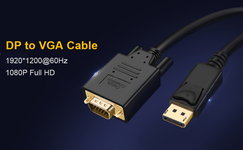 DP to VGA Cable
