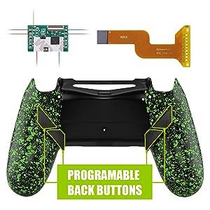 Textured Green Dawn Programable Remap Kit for PS4 Slim Pro Controller JDM-040 JDM-050 JDM-055 1