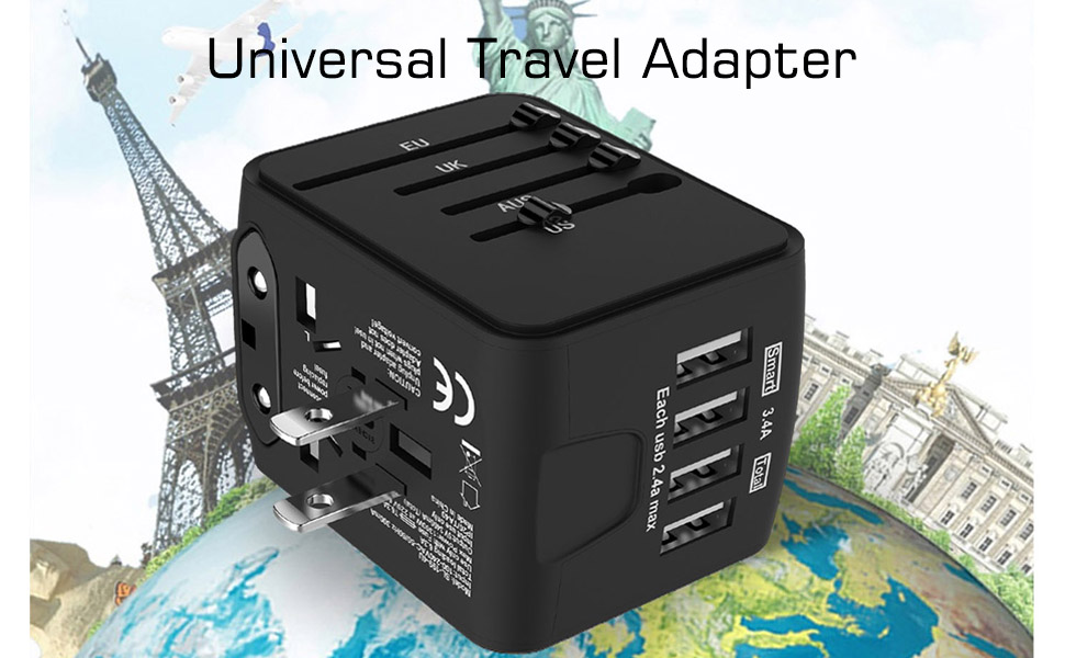 travel adapter black