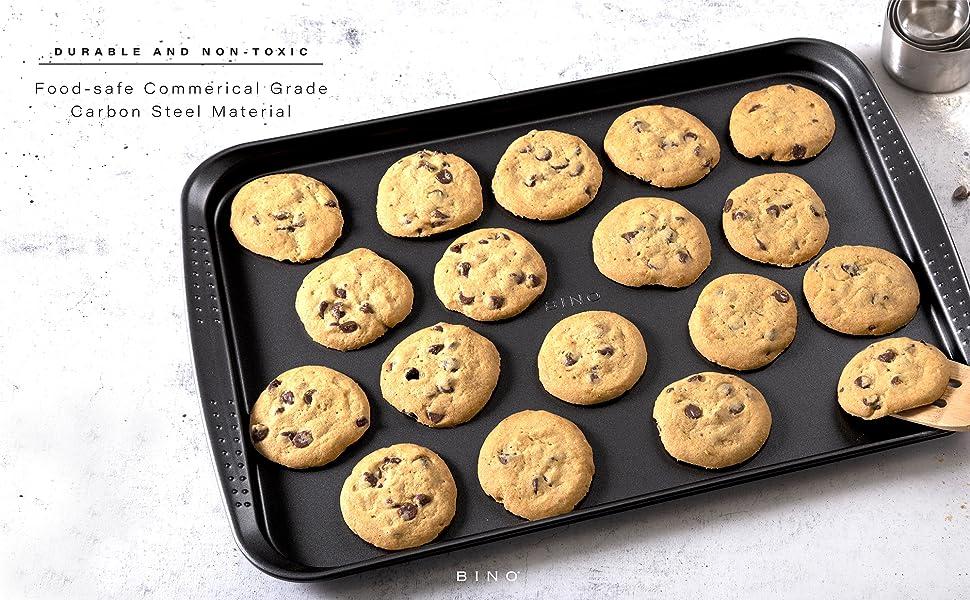 BINO Bakeware Nonstick Cookie Sheet Baking Tray Baking Sheet