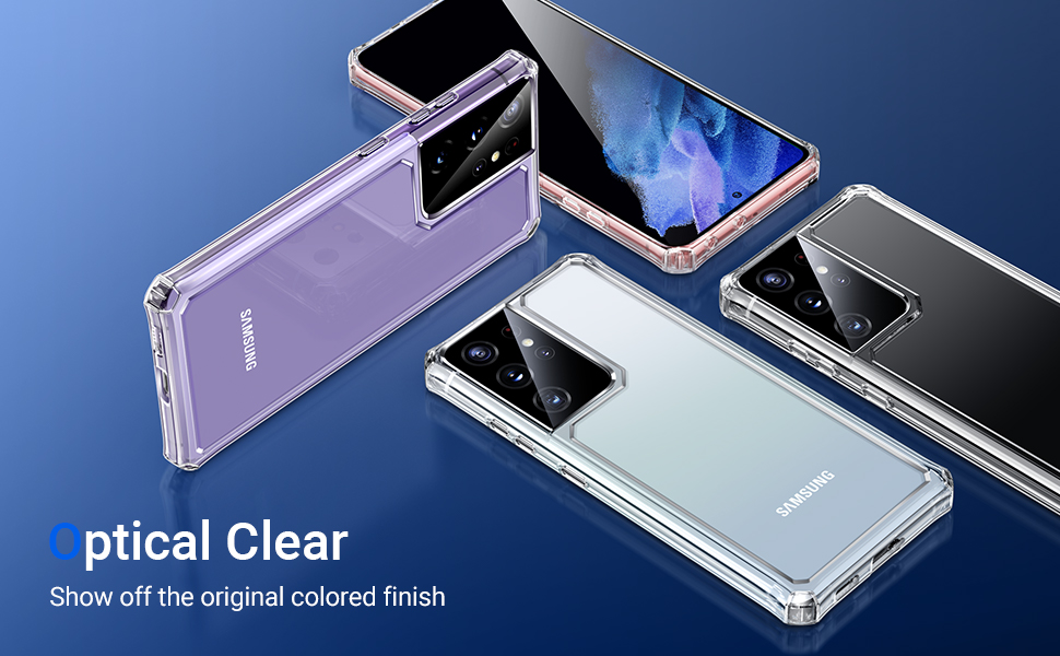 Optical clear, show off the original colored finish