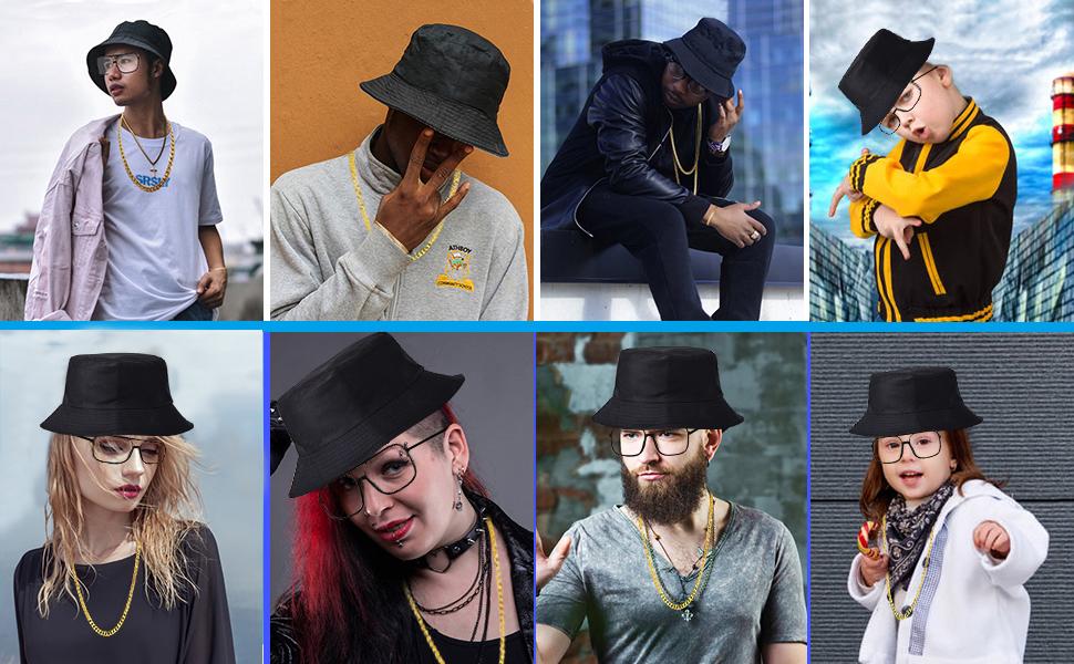 Adults 80s Bling Cap Hat Hip Hop Gangster Rapper Fancy Dress Costume Accessory