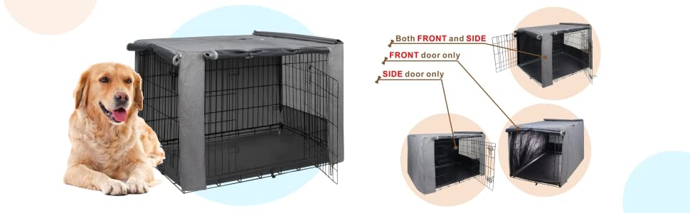 not affect the opening of the dog kennel door on both sides.