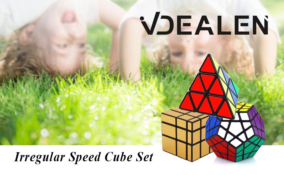 Vdealen - Juego de 3 x 3 x 3 x 3 x 3 x 3 x 3 x 3 x 3 cm, Espejo Dorado, puzle de Cubo, Color Plateado: Amazon.es: Juguetes y juegos