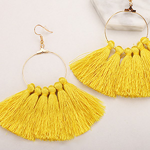 Fashion Tassel Earrings Bohemian Fringe Statement Big Dangle Drop Earrings for Women Teen Girls