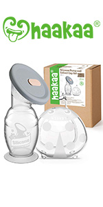 Haakaa Manual Breast Pump amp; Wearable Ladybug Breast Milk Collector Combo for Breastfeeding