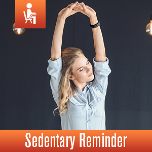 smart watch with sedentary reminder