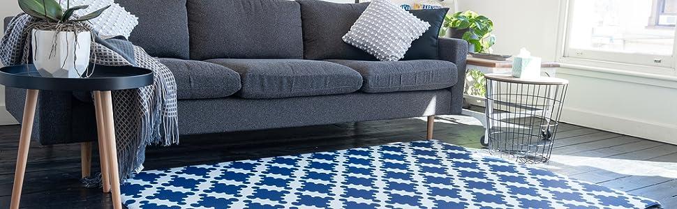 Cushmat Royal Blue Star Foam floor mat baby mats for playing playmat baby tummy time baby mat