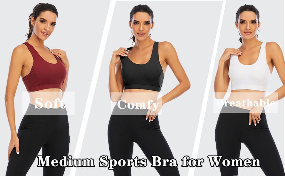 criss cross strappy sports bra for women