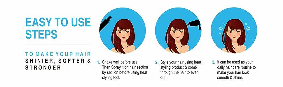 de vivre hair heat protection spray for hair straightner women hair dryer