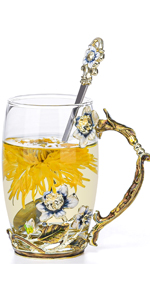 Jasmine glass cupglass cup