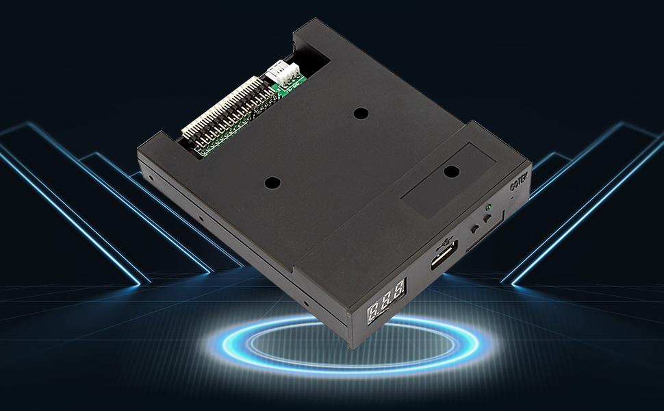 SFR1M44 - U100K Updated Version USB Floppy Drive emulador de órgano electrónico - Negro