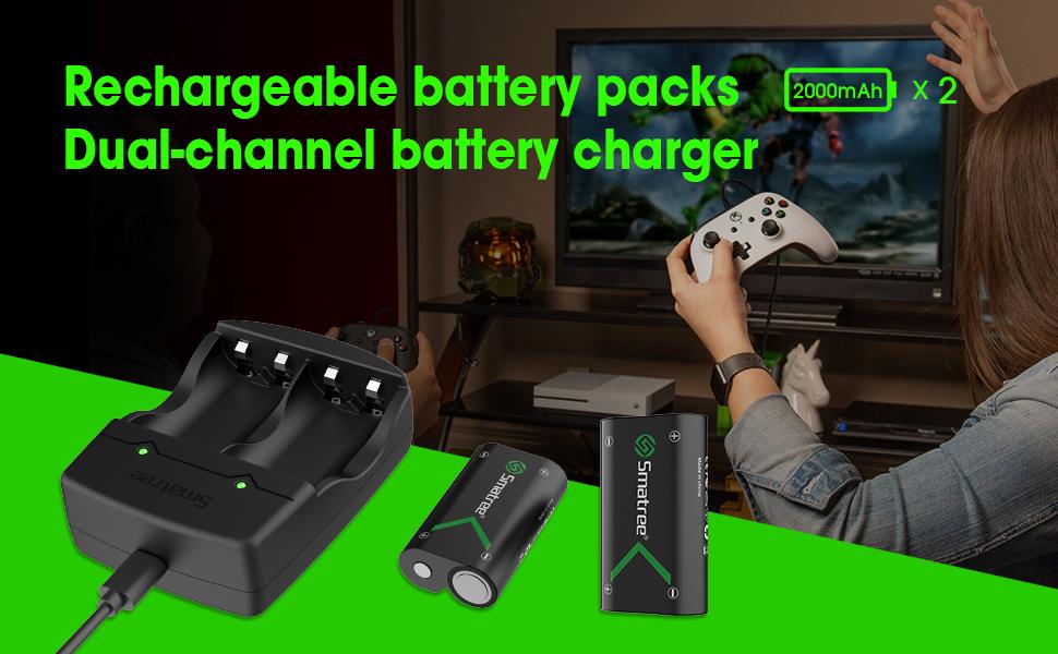 Smatree Batteria Ricaricabile 2000mAh (2 Pezzi)