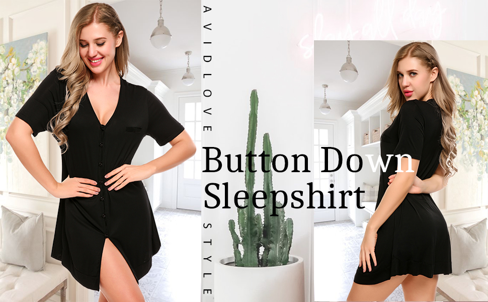 Button Down Nightgown