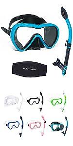 mask snorkel set snorkeling gear equipment snorkel mask