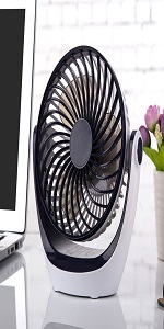 Desk Fan Small Tabletop Fan with Strong Airflow Quiet Operation Portable Mini USB Fan Air Circulator