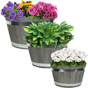Outdoor traditional modern fiber clay pottery sturdy flower pot planter set material