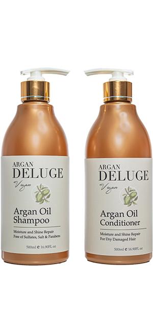deluge argan shampoo and conditioner