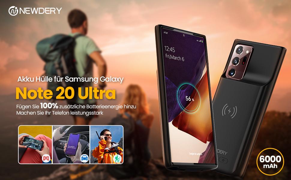Untersttzung Qi Wireless Lade NEWDERY 6000mAh Akku Hlle fr ...